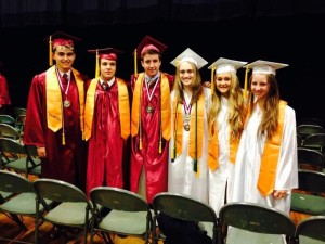 Eight MMS students, all honors graduates of George Washington High School.