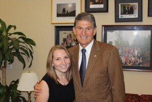 Zahavra Ureck, pictured as an intern for Sen. Joe Manchin III, is the first West Virginia to be named a Truman Scholar.