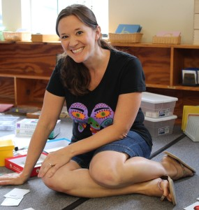 Primary Lead Guide Rachel Scarpelli prepares her classrooms for back to school.