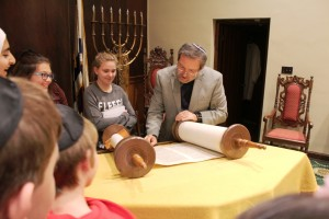 During their study of Western religions, students toured houses of worship and met with local clergy.