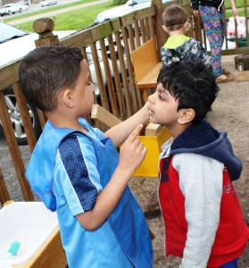 Developing the senses in the outdoor classroom.