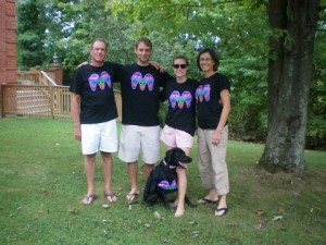 "Julie Margolis and her family (even the dog!) get their ""M"" on."