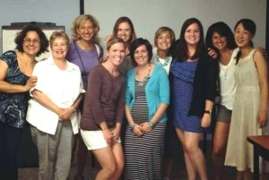Julianna Phillips, third from right, and sister Montessori educators at the Greater Cincinnati Center for Montessori Education.