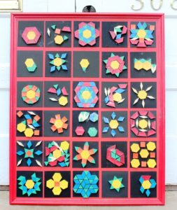 C Tile quilt by 3-4 year old students